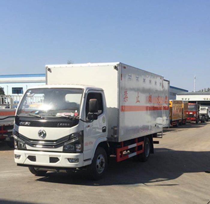 东风蓝牌4.2米易燃气体箱式运输车