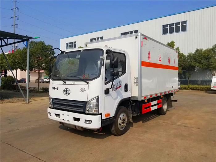 解放蓝牌4.2米易燃气体箱式运输车