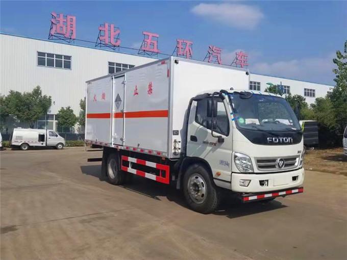 福田奥铃4.2米易燃气体箱式运输车