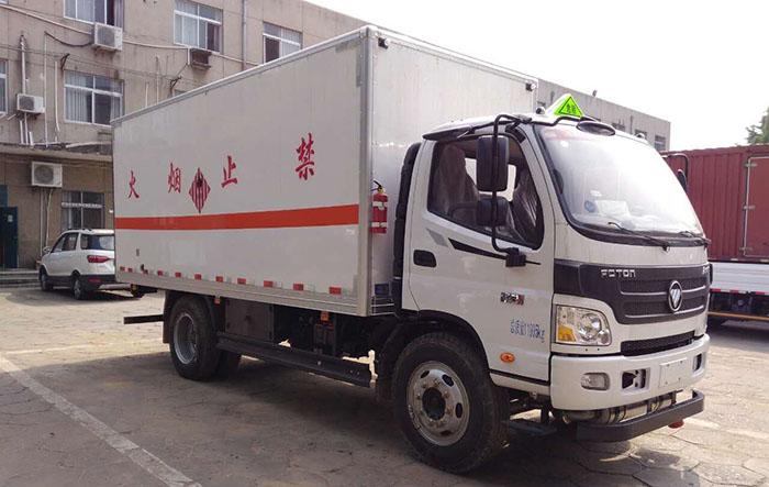 欧马可5.1米易燃气体厢式运输车