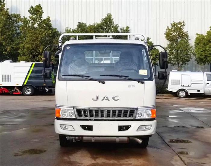 江淮4米13厢长栏板式气瓶运输车