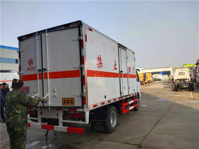 国六蓝牌东风多利卡易燃气体厢式运输车价格