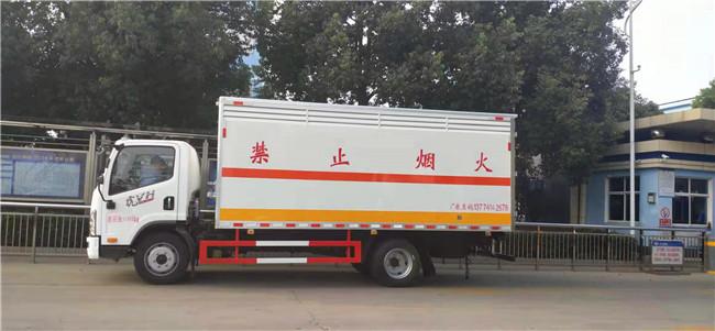 国六蓝牌解放易燃气体厢式运输车价格