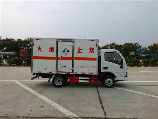 国六跃进易燃气体厢式运输车