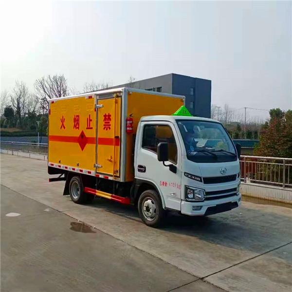 国六跃进柴油厢式危险品运输车